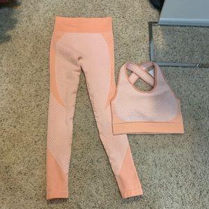 Brand new Astoria activewear peach workout set